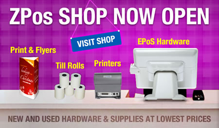 ZPos Shop Now Open - Buy new and used epos equipment and consumables for your takeaway