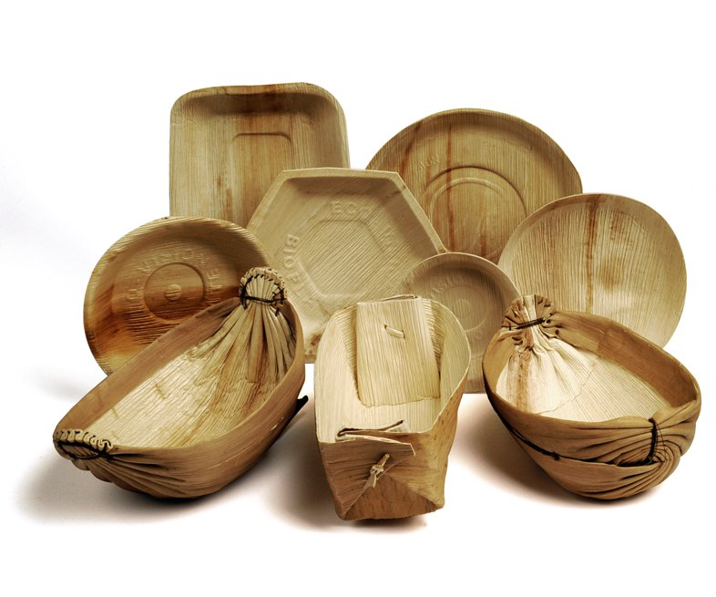 Palm leaf food containers