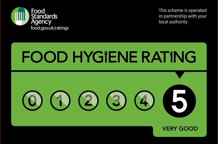 5 star hygiene rating for your takeaway and restaurant