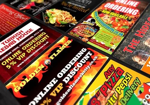 Takeaway Menus, Restaurant Flyers, Pizza Menus, Cheap Printing