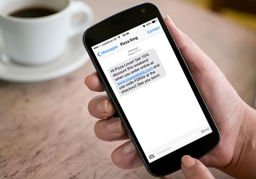 Restaurant SMS Marketing - Send SMS text messages to your takeaway customers