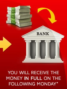 Step 5) You will receive the money for the takeaway online order in full, in your bank account